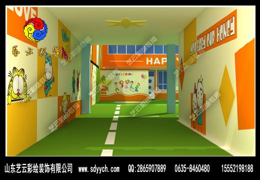 甘肃陇南蓝天幼儿园室内彩绘装饰作品